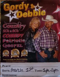 Gordy & Debbie on Stage at The Webb